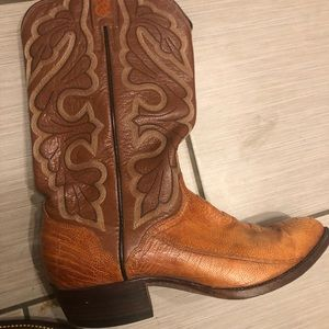 dfec15821e9 Ostrich skin women's cowboy boots Eldorado size 9